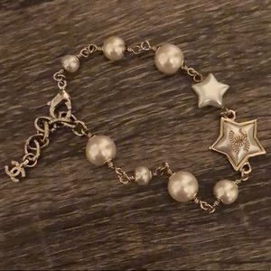 Chanel pearl and stars bracelet